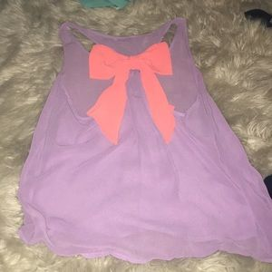 Dainty hooligan sheer bow blouse top
